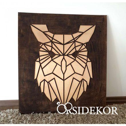 2 rétegű bagoly falikép fából