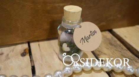 Üzenet a palackban, parafadugóval