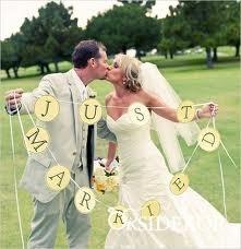 Just Married zászló