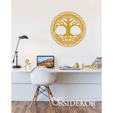 Életfa kör falikép fából