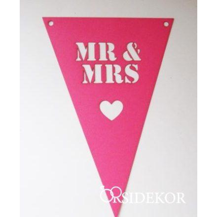 Mr & Mrs zászlócskák