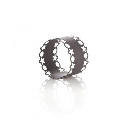Lézervágott szalvétagyűrű egyedi színben