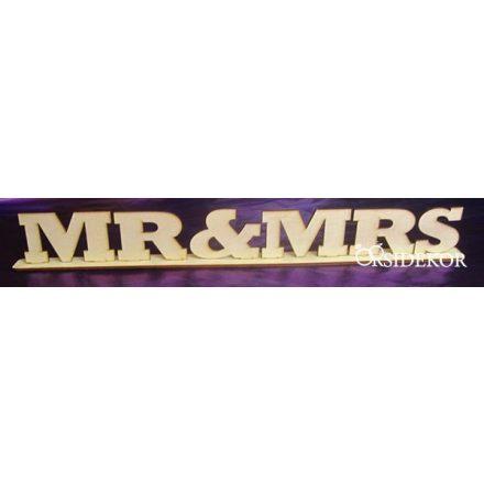 Mr & Mrs tábla talppal
