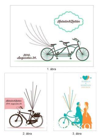 Ujjlenyomatfa, biciklis, színes