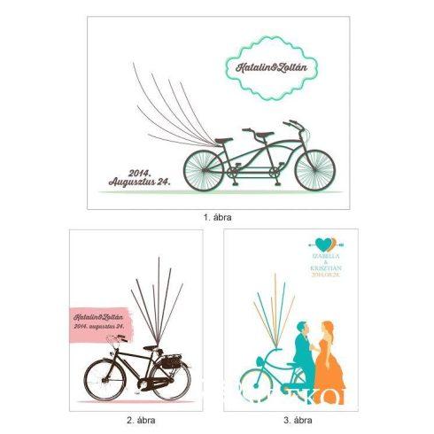 Ujjlenyomatfa, biciklis, színes - többféle