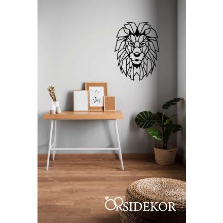 Geometrikus oroszlán falikép fából