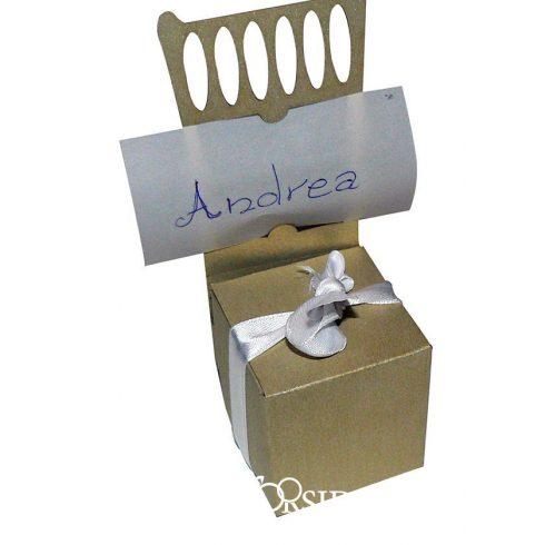 Székalakú köszönetajándék-doboz