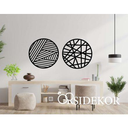 Geometrikus körök /2 részes/ falikép fából
