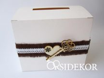 """""""Vintage románc"""" nászajándékgyűjtő doboz / persely"""