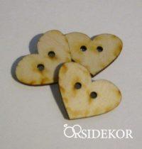 Szív alakú fa gombocska