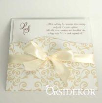 Elegáns esküvői meghívó papír tokban
