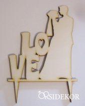 Esküvői tortadísz, Love és vőlegény-menyasszony