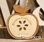 Köszönetajándék fából - poháralátét alma