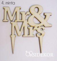 Esküvői tortadísz, Mr&Mrs