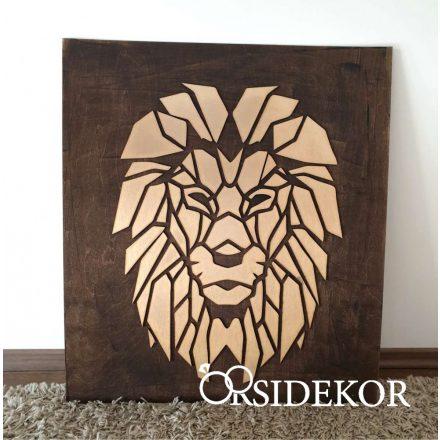 2 rétegű oroszlán falikép fából