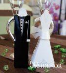 Köszönetajándék-doboz, esküvői pár