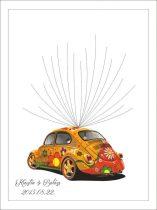 Ujjlenyomatfa, autós, színes