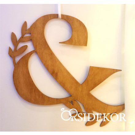 Modern levélmintás & jel fából