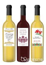 Esküvői boros címke