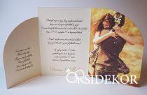 Féynképes esküvői meghívó szalaggal
