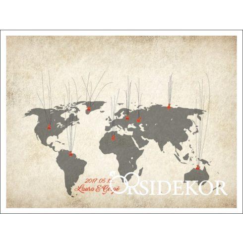 Nagy utazók térképe ujjlenyomatfa