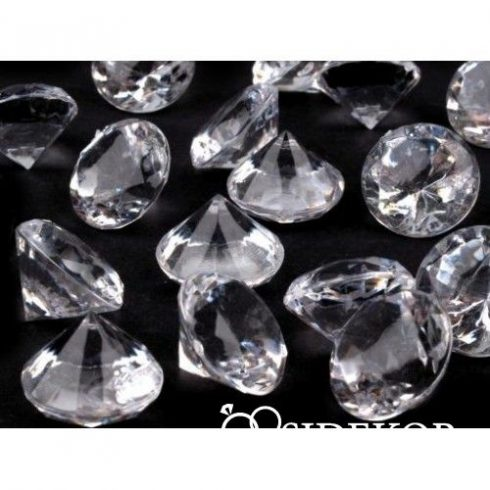 Dekorgyémánt áttetsző - nagy - 18 mm