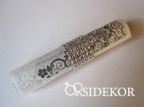 Pausz esküvői meghívó ezüst strasszgyűrűvel