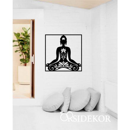 Buddha falikép fából