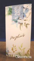 Esküvői meghívó papírcsipkével és fa rátéttel