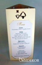 Menüháromszög vőlegény-menyasszony