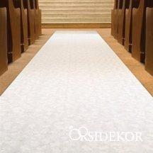 Bevonulási szőnyeg fehér esküvőre