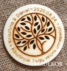 Köszönetajándék fából - poháralátét