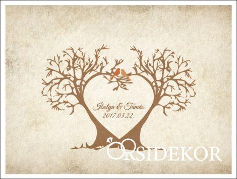 Szerelmes fák ujjlenyomatfa