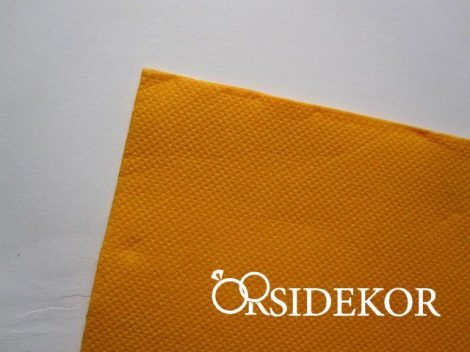 Textilhatású szalvéta, napsárga