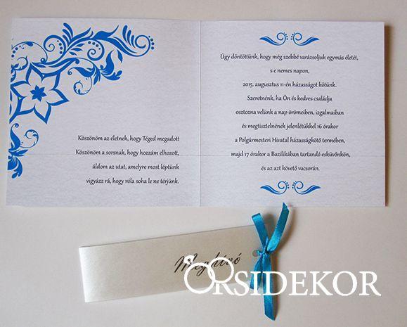 815b52f805 Egyedi mintás esküvői meghívó szalaggal - Orsi Dekor - Esküvői ...