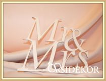 Mr & Mrs tábla