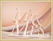 Mr & Mrs tábla