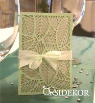 Áttört mintás esküvői meghívó