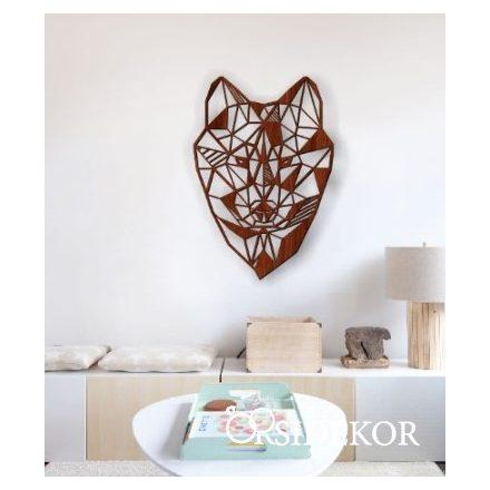 Geometrikus farkas falikép fából