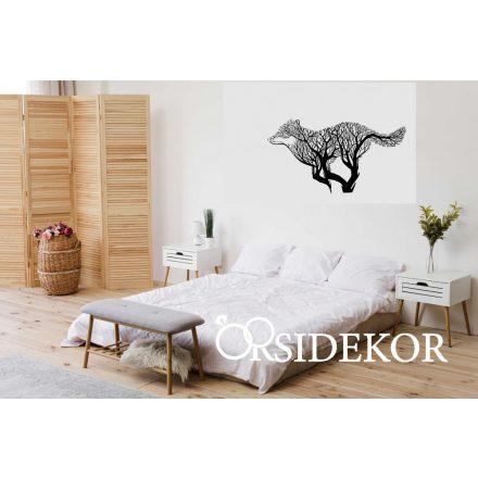 Erdei farkas falikép fából