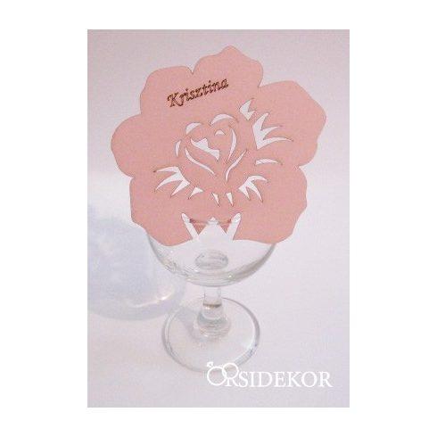 Pohárra tehető virág ültetőkártya