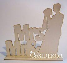 Fa jegyespár tábla, Mr&Mrs