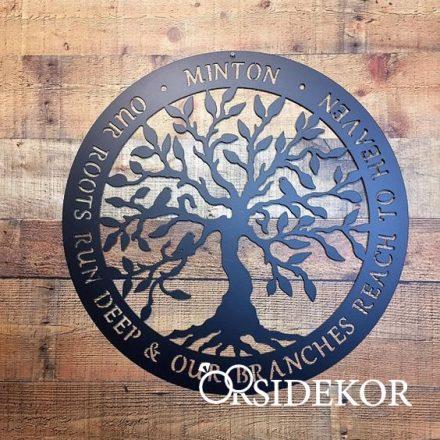 Kör alakú családfa fából