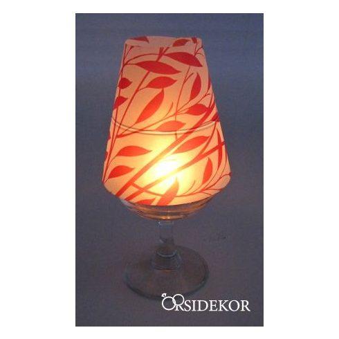 Borospohár lámpaernyő