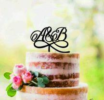 Esküvői tortadísz, monogram