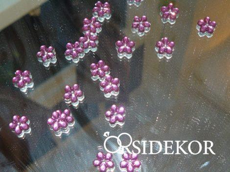 Dekorkavics, virágforma, rózsaszín