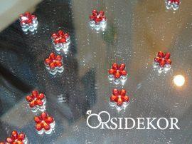 Dekorkavics, virágforma, bordó