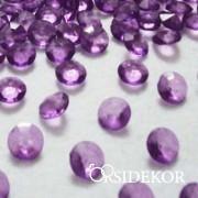 Dekorgyémánt, áttetsző dekorkövek,  lila
