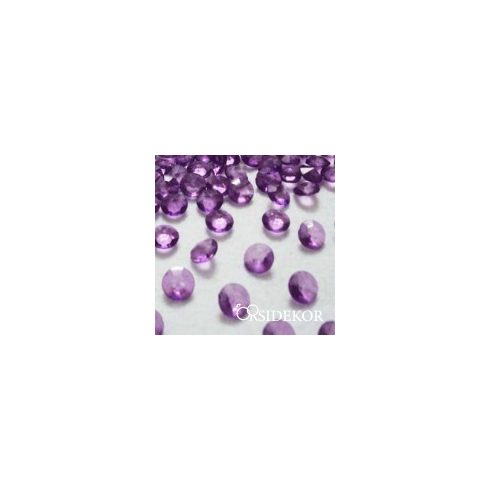 Dekorgyémánt  lila - 10 mm