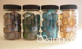 Dekorkavics üveg - dekorkövek több szín